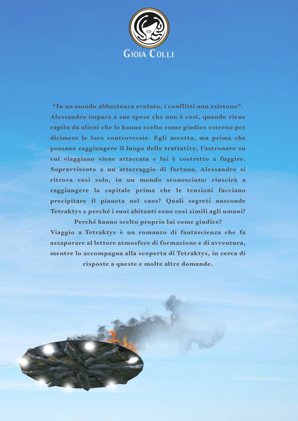 Gioia Colli - Viaggio a Tetraktys - Retro di copertina